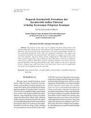 Pengaruh Karakteristik Perusahaan dan Karakteristik Auditor ...