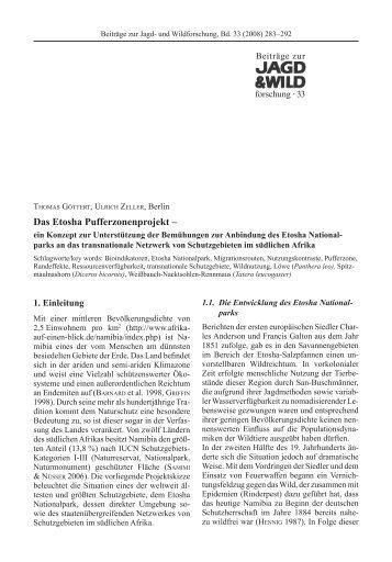 Das Etosha Pufferzonenprojekt – - Zoo Magdeburg