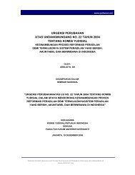 urgensi perubahan atas undangmundang no. 22 tahun ... - Parlemen