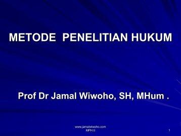 konsep dasar penelitian - Prof. Dr. Jamal Wiwoho