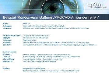Kundenveranstaltung IT-Branche - topCom Werbeagentur in ...