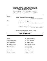sentence arbitrale - Le Groupe d'arbitrage et de médiation sur mesure