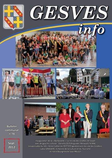 GESVES info - La Commune de Gesves