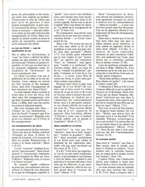 Pure Verite 1979 (No 07) Jui-Aou - Herbert W. Armstrong Library ...