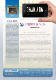 Télécharger le PDF Chavoua Tov Vayakhel 5771 - Torah-Box.com