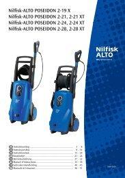 Nilfisk-ALTO POSEIDON 2-19 X Nilfisk-ALTO POSEIDON 2-21, 2-21 ...