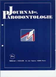 Journal de Parodontologie Vol 9 - N°4/90 - Lyre-jet