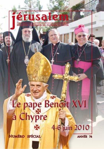 Le pape Benoît XVI à Chypre Le pape Benoît XVI à Chypre