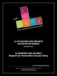 Rapport sur la situation des enfants autistes en France - Fédération ...