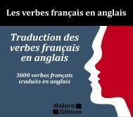 Traduction des verbes - Livres Makara Éditions - Free