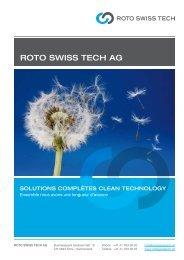 Firmenbroschüre Roto Swiss Tech AG