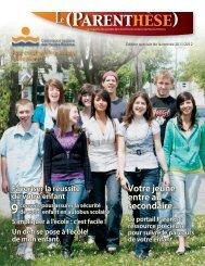 Numéro 6 - Septembre 2011 - Commission scolaire des Hautes ...
