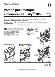 3A0626L, 1050 Air-Operated Diaphragm Pump, Repair/Parts, French