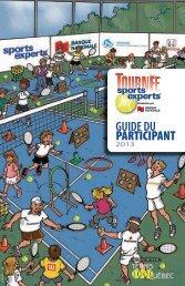 GUIDE DU PARTICIPANT - Tennis Québec