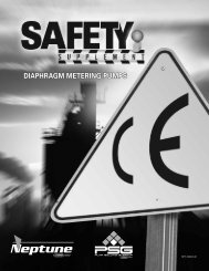 DIAPHRAGM METERING PUMPS - Pump Solutions Group