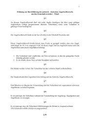 Ordnung zur Durchführung des Angelwettbewerbes -  Rehfelde