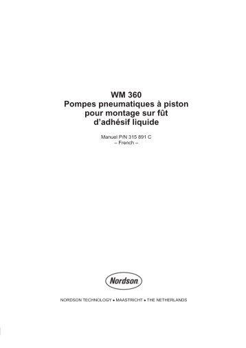 WM 360 Pompes pneumatiques à piston pour montage sur fût d ...