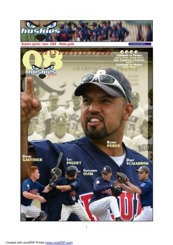 Média Guide Elite 2008 (PDF 1,8 Mo) - Rouen Baseball 76