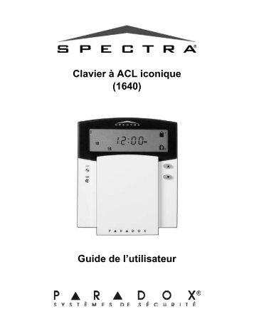 spectra paradox alarm system manual