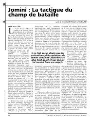Jomini : La tactique du champ de bataille - Armée de terre canadienne