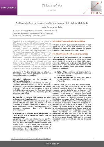 TERA Analytics - Tera Consultants