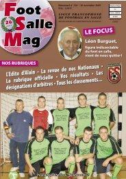 Foot Salle Mag - Ligue Francophone de Football en Salle : Hainaut