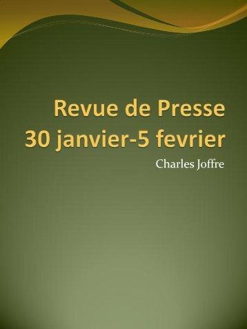 Revue de presse - Joffre - ACTEURS DU SPORT