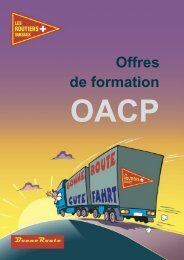 Brochure Cours OACP - routiers.ch