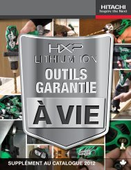 Catalogue 2012 Hitachi FR - Cloumatic