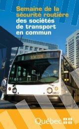 Semaine de la sécurité routière des sociétés de transport en ... - atuq