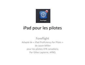 iPad pour les pilotes