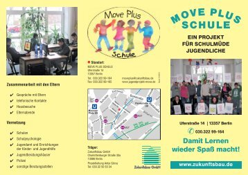 Faltblatt MOVE Plus Schule - Zukunftsbau GmbH