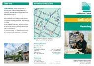 Faltblatt Umschulung zum/r Tischler/in - Zukunftsbau GmbH