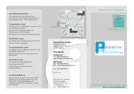 Faltblatt Perspektive Ausbildung - Zukunftsbau GmbH