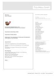 Workshop Programm (131 kB) - Zukunftsbau GmbH