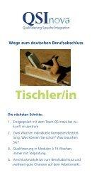 Flyer QSInova Tischler/in - Zukunftsbau GmbH