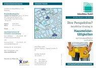 Faltblatt IMA Hausmeister - Zukunftsbau GmbH