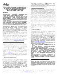 CGV Tarifs réglementés énergie Professionnels - Vialis