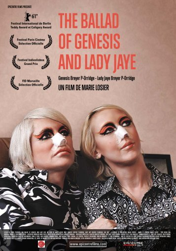 THE BALLAD OF GENESIS AND LADY JAYE - Epicentre Films