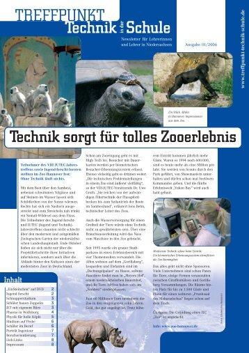 Ausgabe 01/2006 - Treffpunkt Technik in der Schule