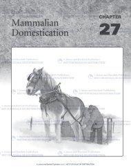 Mammalian Domestication - Jones & Bartlett Learning