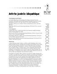 Protocole - Canadian Paediatric Surveillance Program