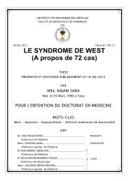 LE SYNDROME DE WEST - Faculté de Médecine et de Pharmacie ...