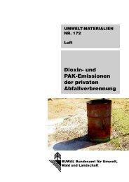 Dioxin- und PAK-Emissionen der privaten ... - BAFU - CH