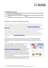 PDF PM Patienten zu Glutensensitivität gut beraten - Dr. Schär