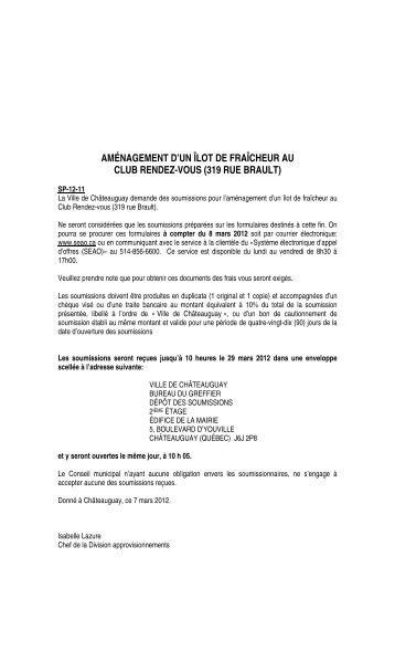 aménagement d'un îlot de fraîcheur au club rendez-vous (319 rue ...