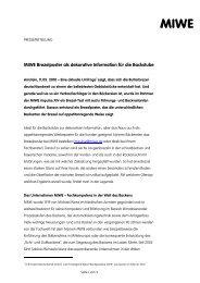 MIWE Brezelposter als dekorative Information für die ... - Zweiblick
