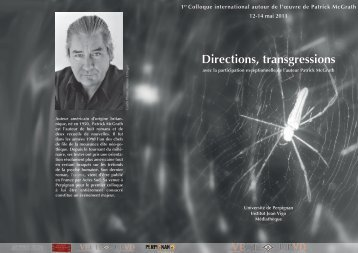 Patrick McGrath Directions, transgressions
