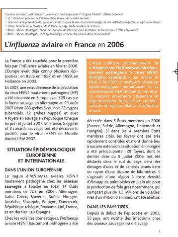 L'Influenza aviaire en France en 2006