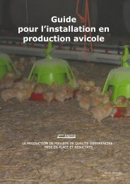 Guide pour l'installation en production avicole - FACW
